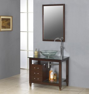 Modern bath vanities are simple but good-looking nonetheless.