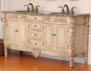 Beautiful, natural wood vanities can be maintenance-intensive