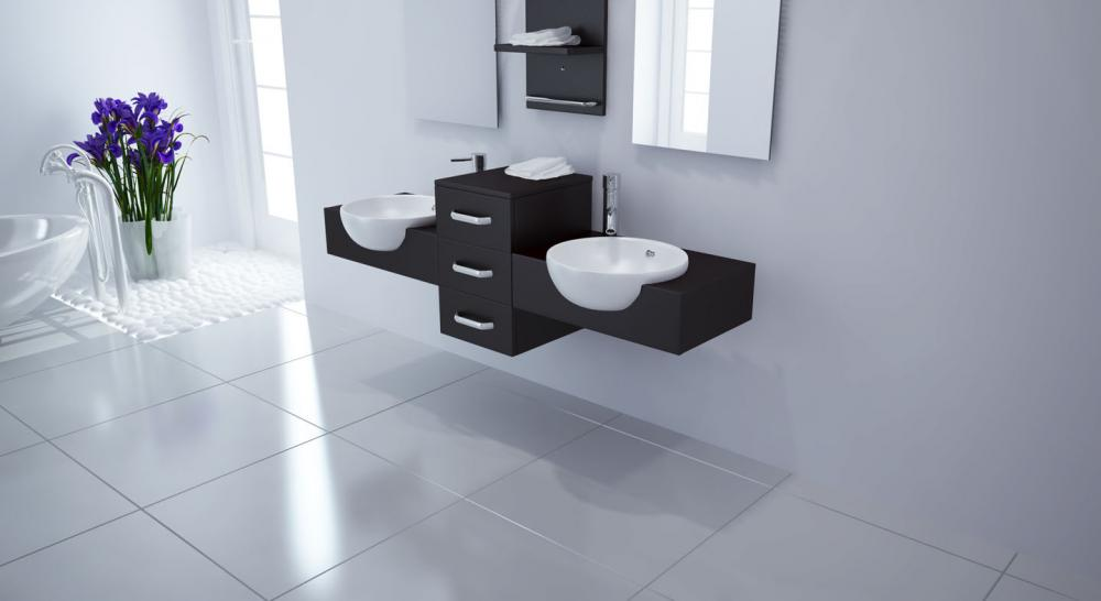 The sleek Modus bath vanity