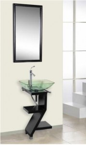 Capistrano vanity in black finish