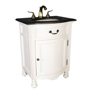 ... An Elegant White Single Bath Vanity
