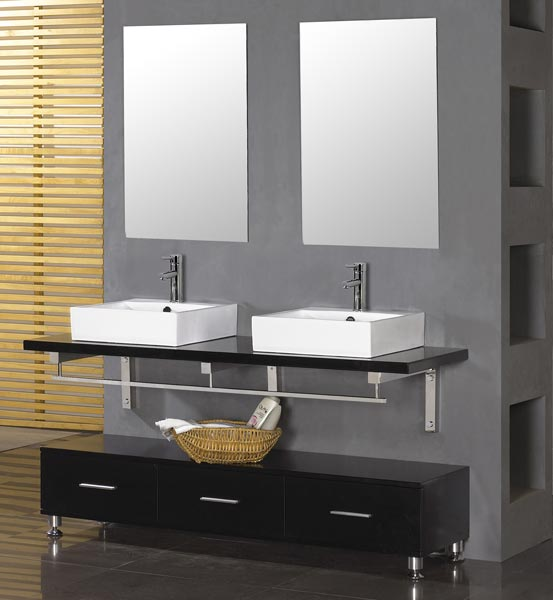... A Simple But Cool Double Bath Vanity