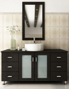 a lovely modern double vanity