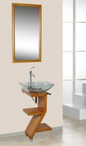 Capistrano vanity in Maple finish