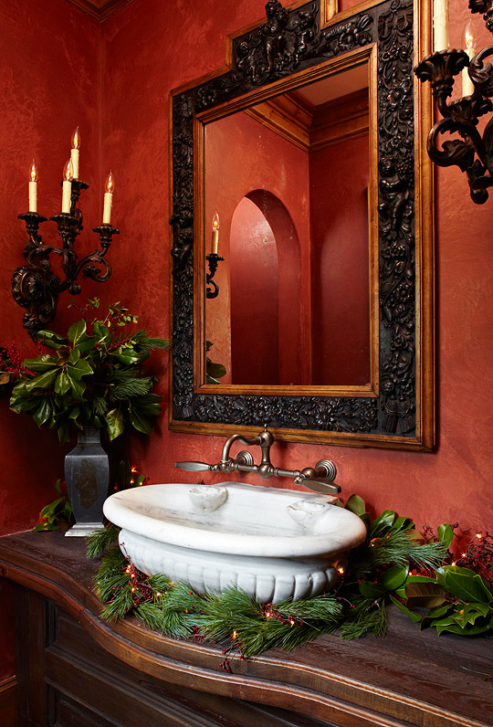 Warm tones can make a bathroom feel much more homey this winter