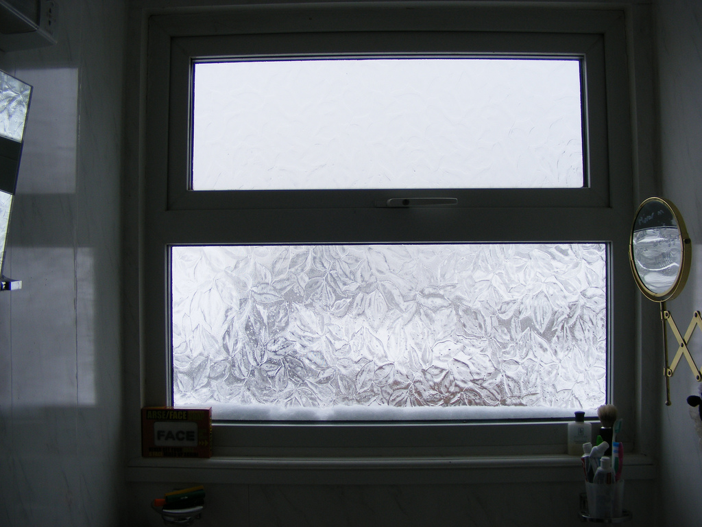 Treat your bathroom window for winter