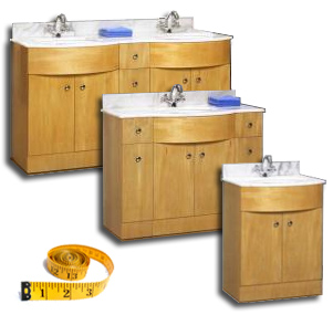 Shop Bathroom Vanities By Size - Bathgems.com