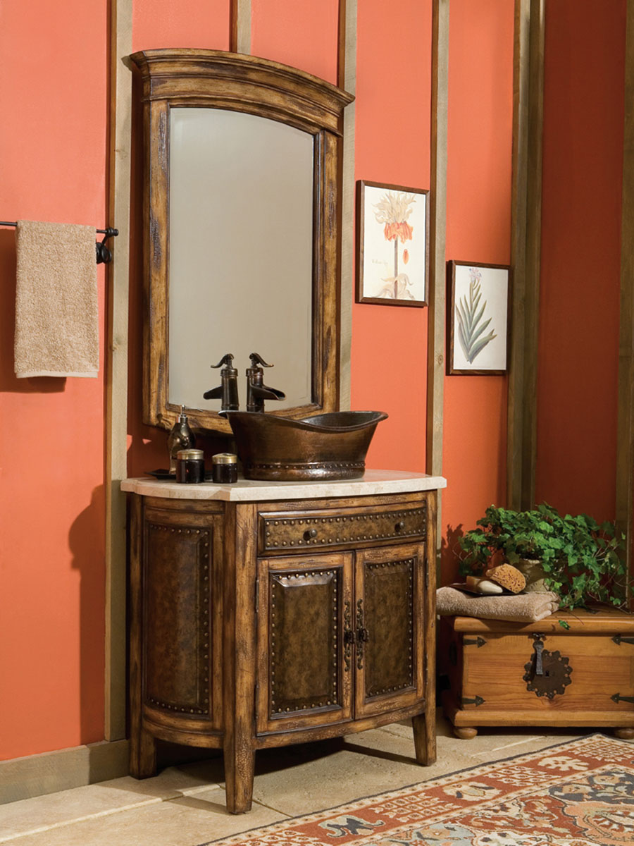 Shown With Rustico Single Vessel Sink Vanity