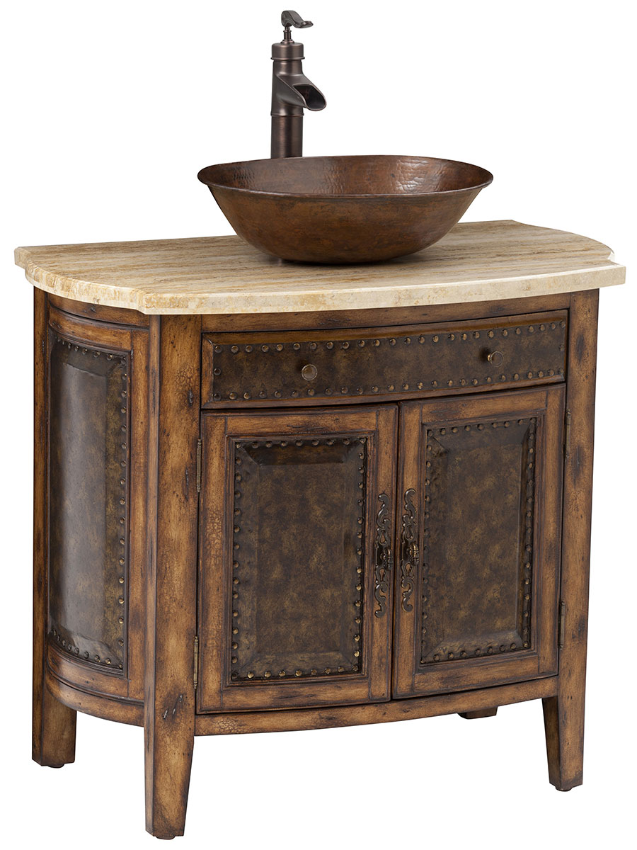 "36"" Rustico Single Vessel Sink Bath Vanity"