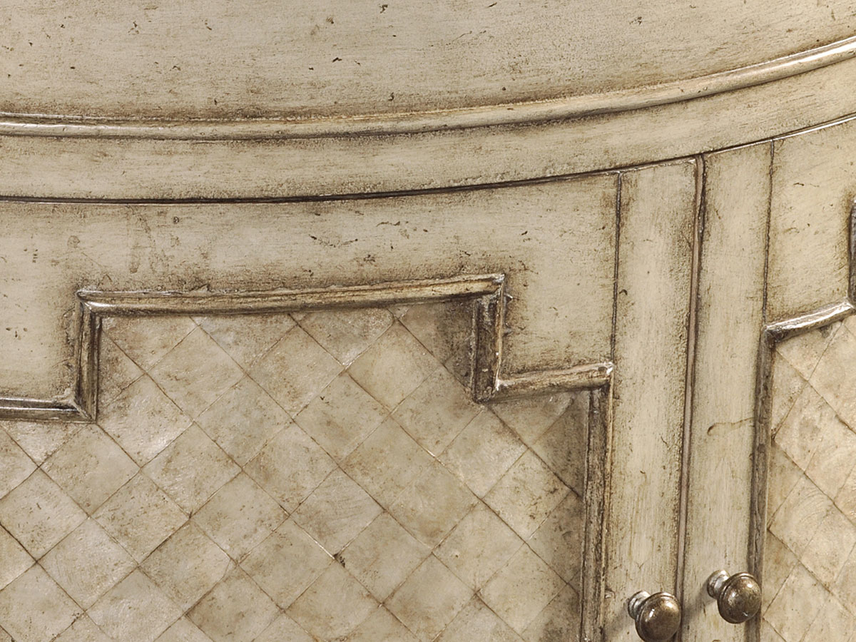 White Capiz Shells Inlaid On Fronts