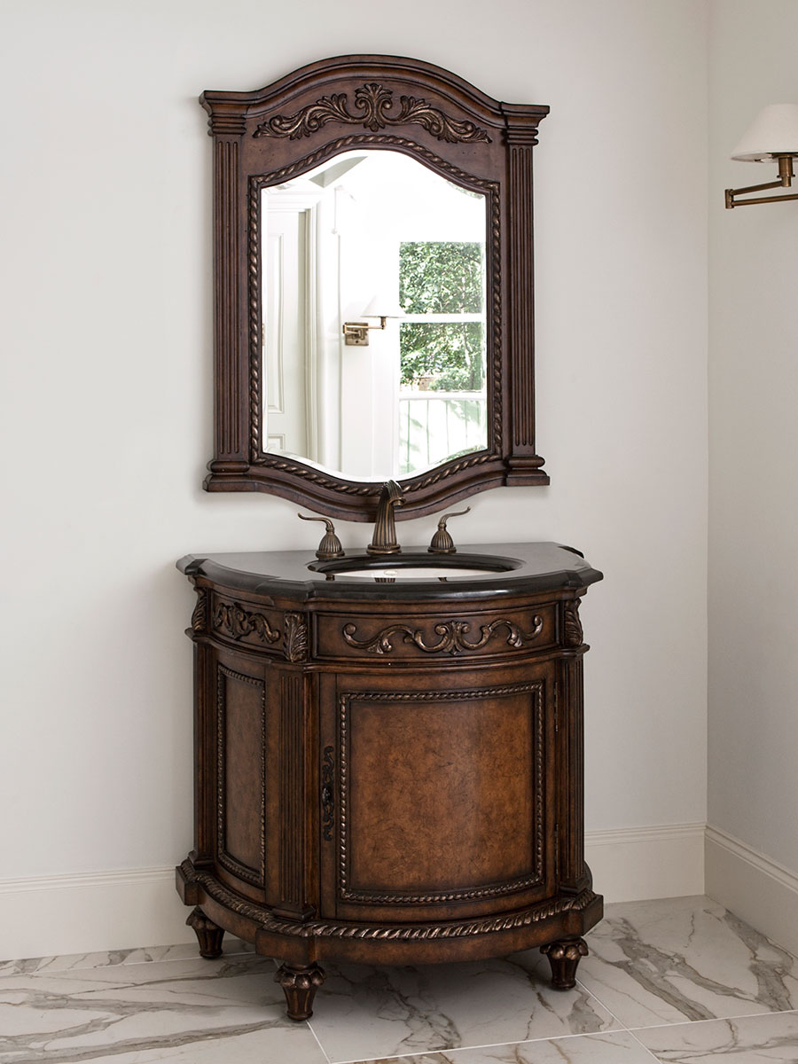 "36"" Demilune Single Bath Vanity"