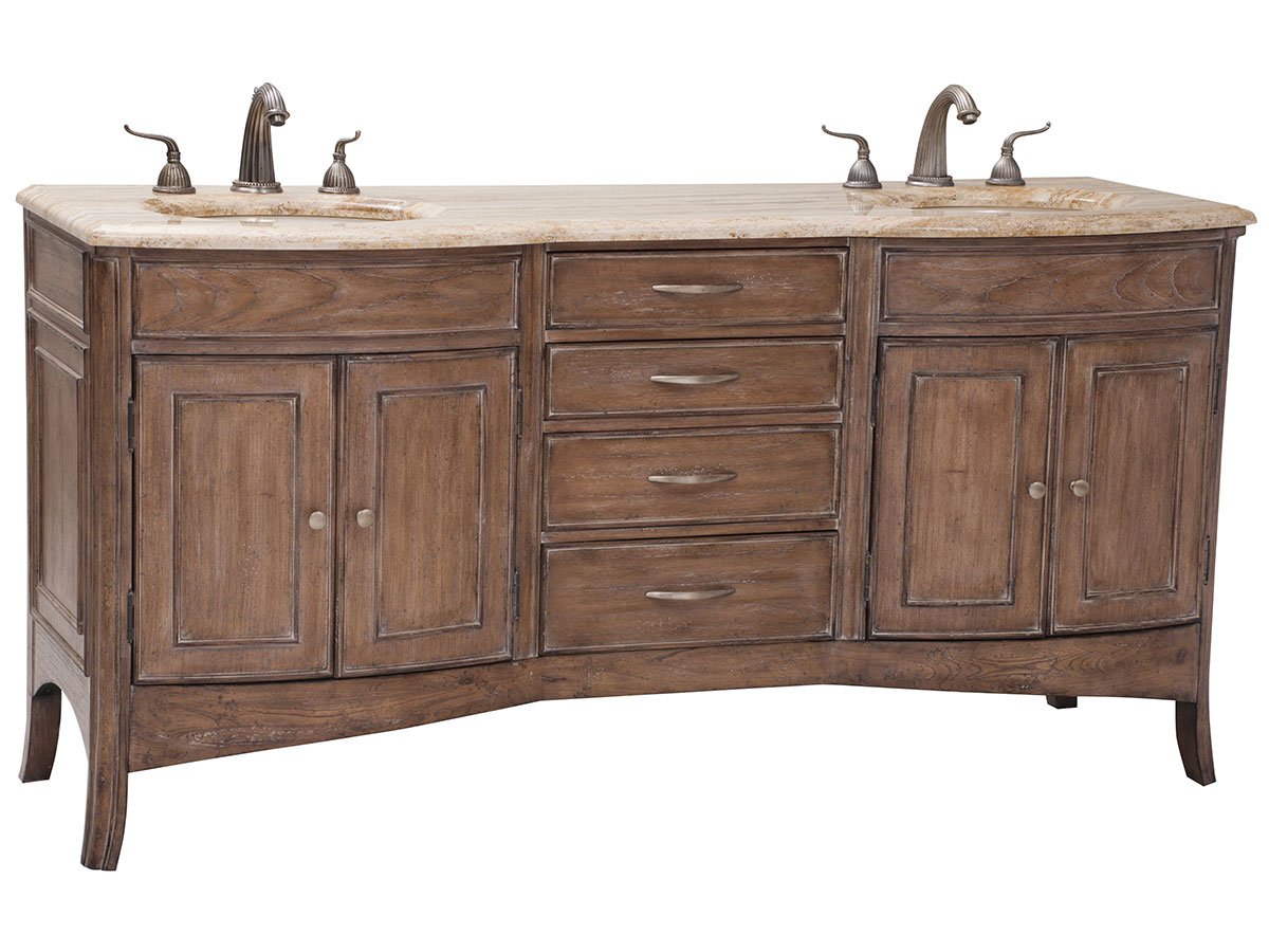 "72"" Verona Double Sink Vanity - Light Oak"