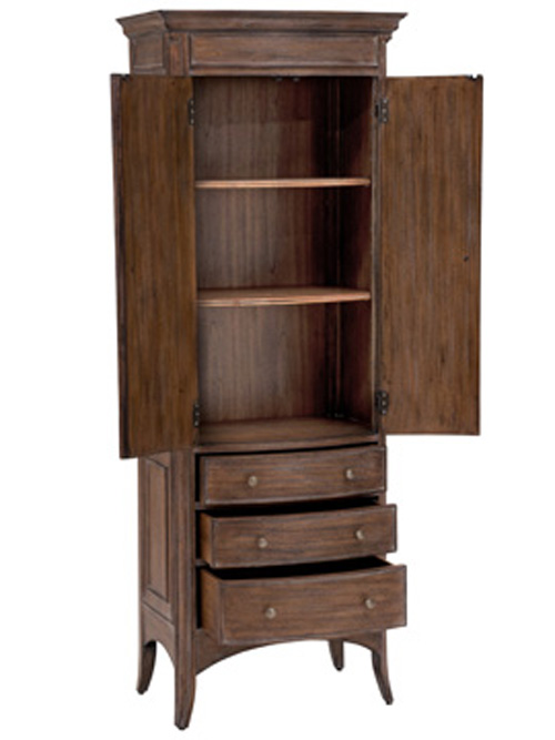 Features 2 shelves and 3 drawers