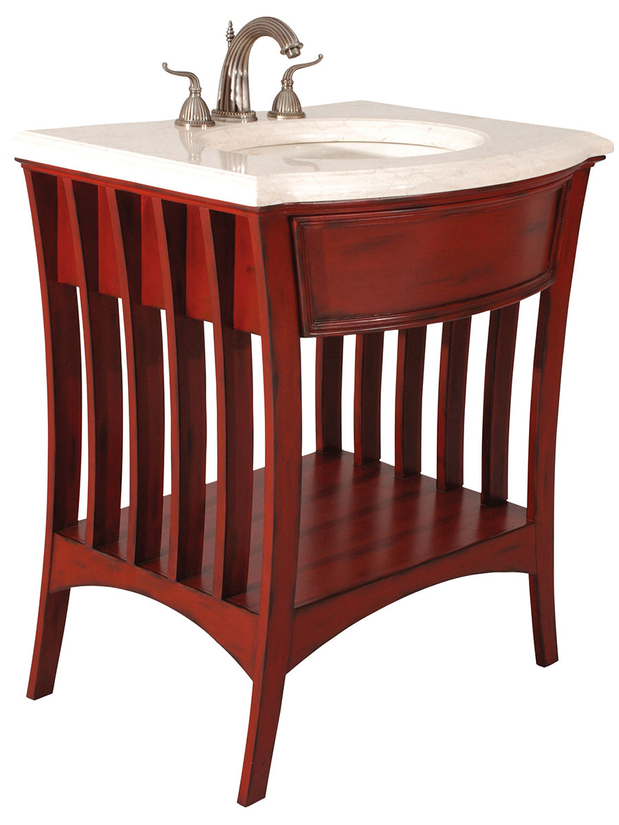 "32"" Metropolitan Single Bath Vanity - Red"