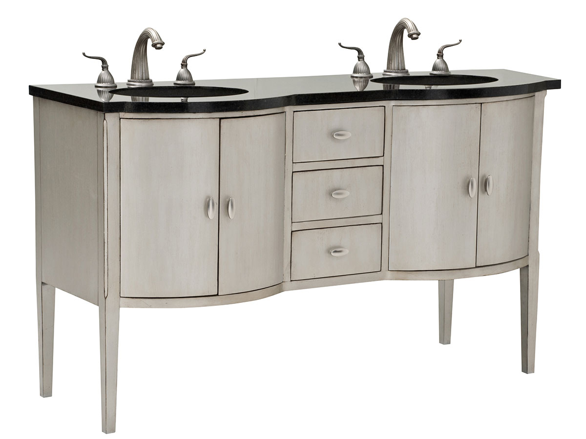 "60"" Sterling Bowfront Double Sink Vanity"