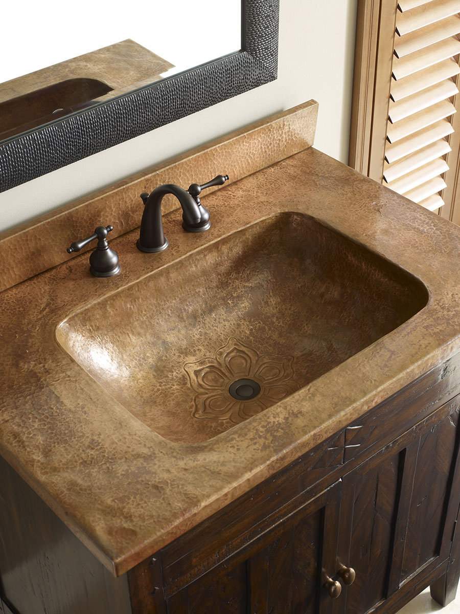 Copper Integrated Sink Top