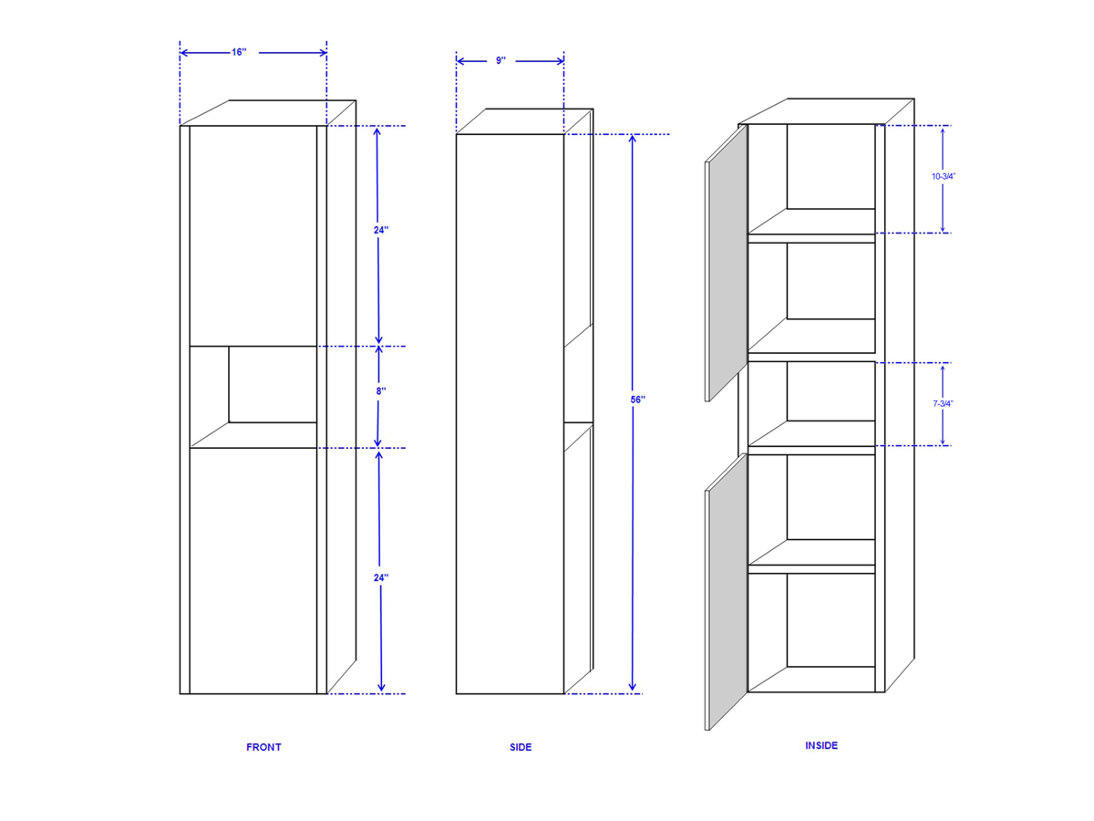 Sarah Wall Cabinet - Dimensions