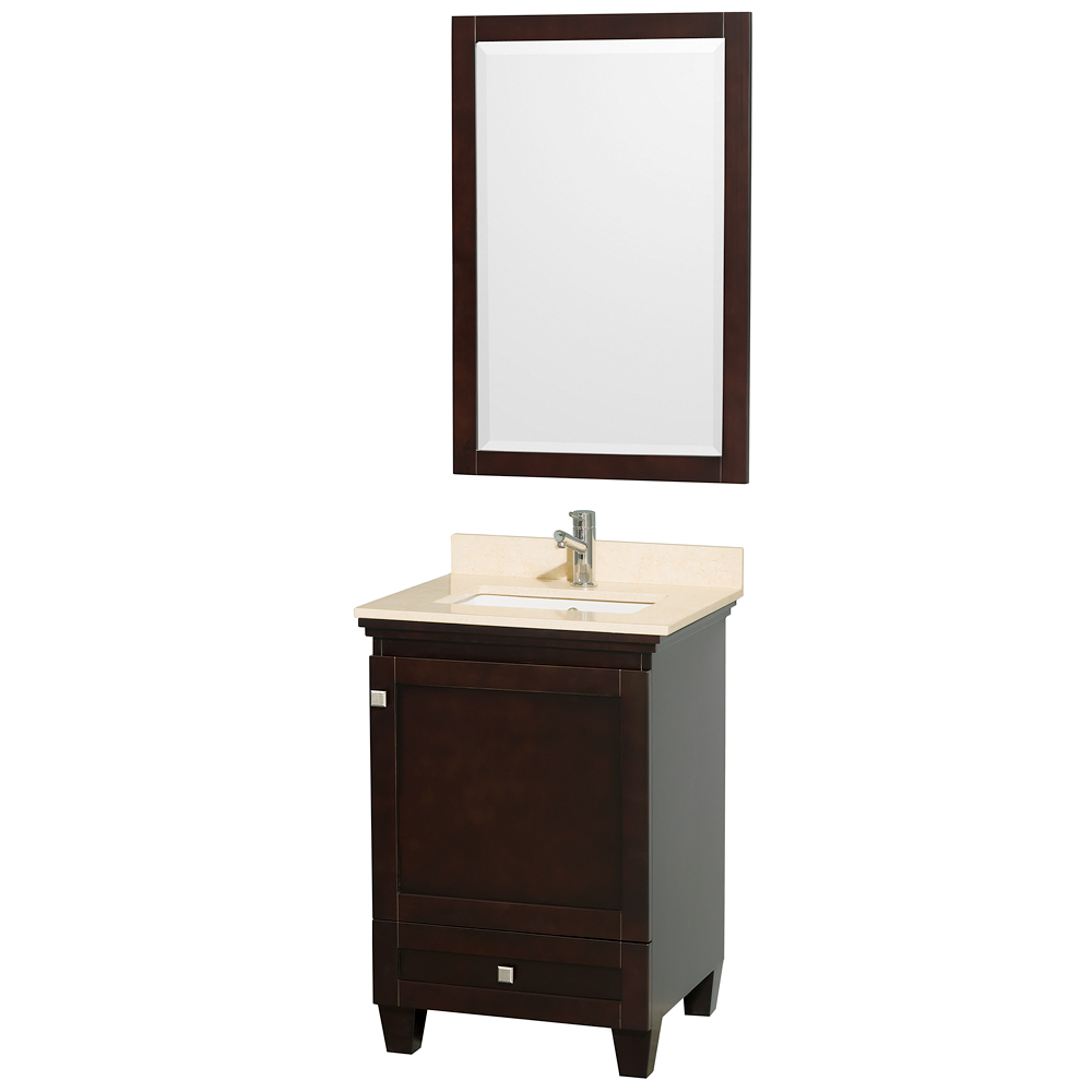 Shown with Mirror and Ivory Marble Top