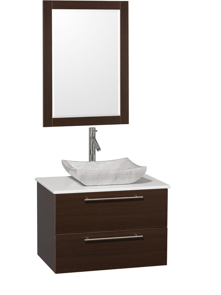 30 Amare Single Vessel Sink Vanity Espresso