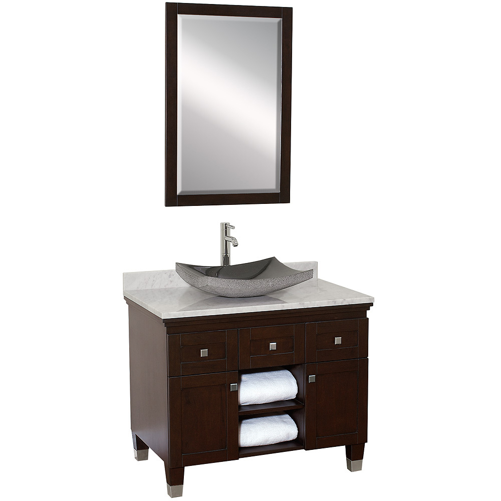 36 Quot Premiere Single Vessel Sink Vanity Espresso