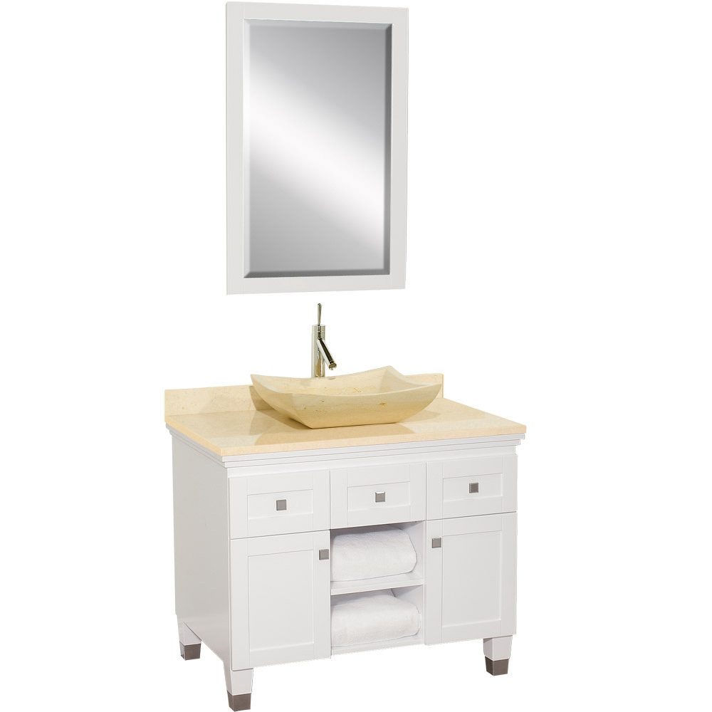Shown With Ivory Marble Top And Ivory Marble Sink