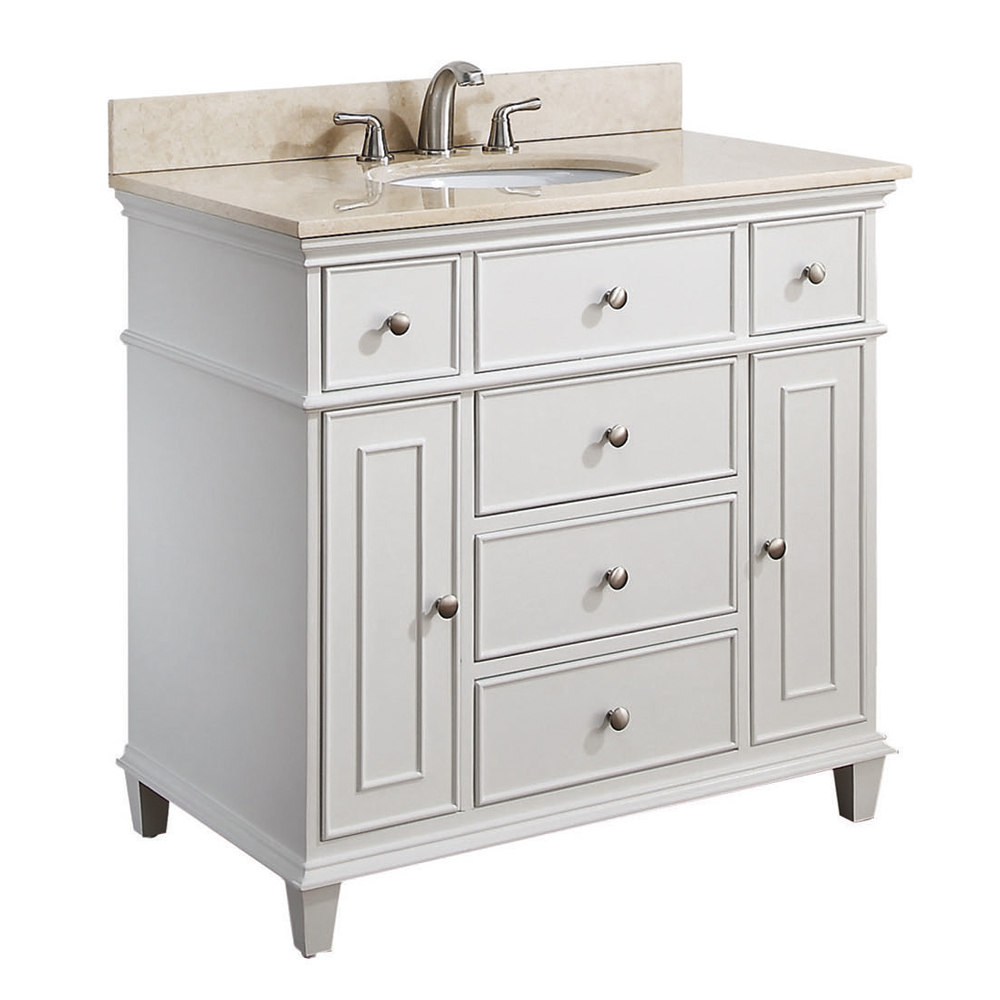 "37"" Cesarina Single Vanity in White"