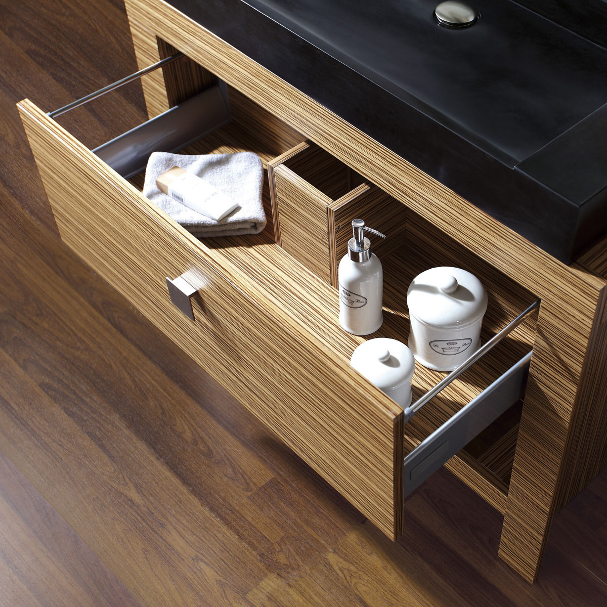 """39"""" Levanto Vessel Sink Vanity - Single Pull-Out Drawer"""