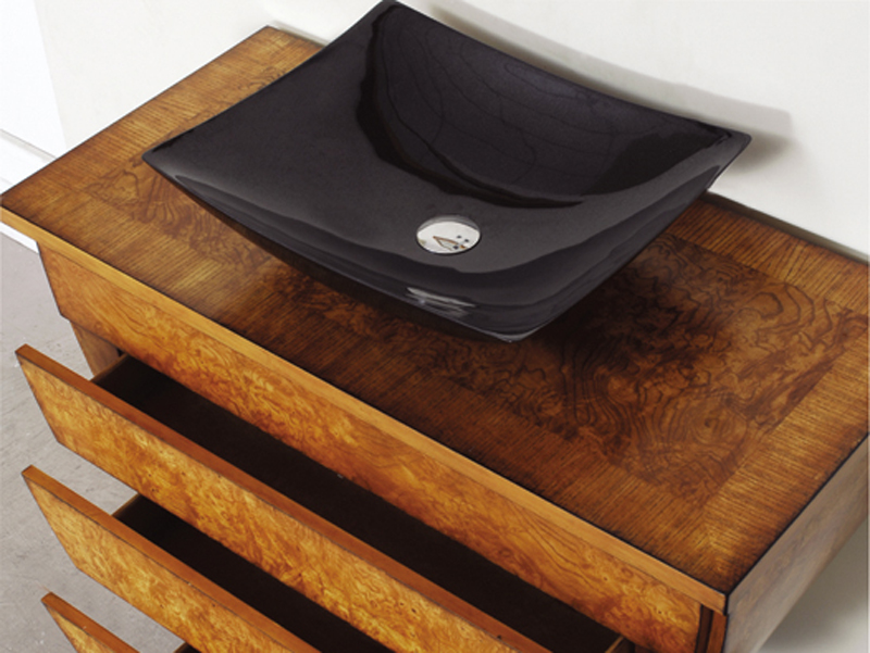 40 Imperia Vessel Sink Vanity With Optional Rectangular Black Granite Vessel Sink