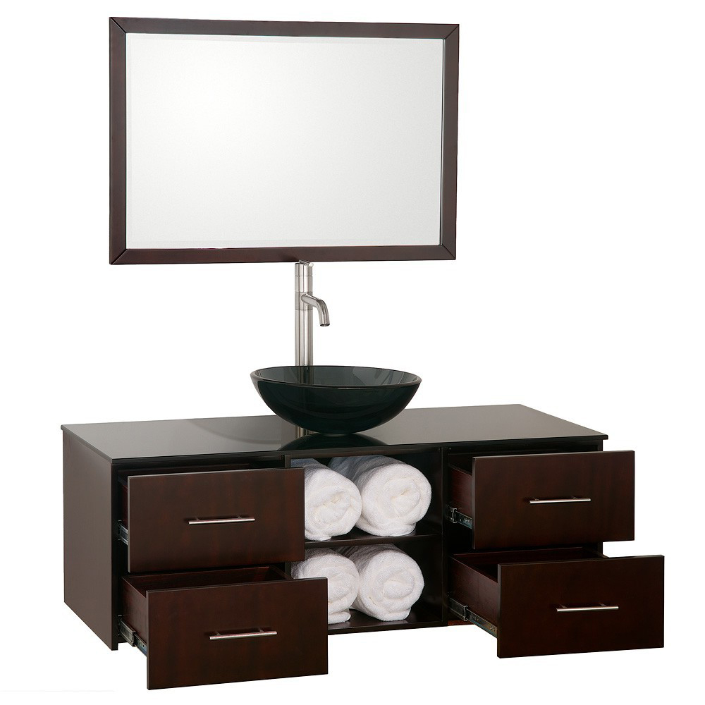 48 abba wall mounted single bath vanity
