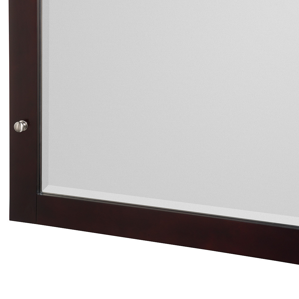 Mirrored Front of Medicine Cabinet