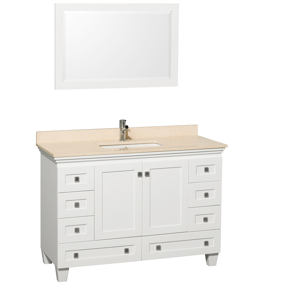 Shown With Ivory Marble Top and Mirror