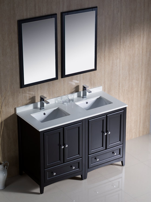 48 double sink bathroom vanity 48 quot oxford sink vanity espresso bathgems 21835