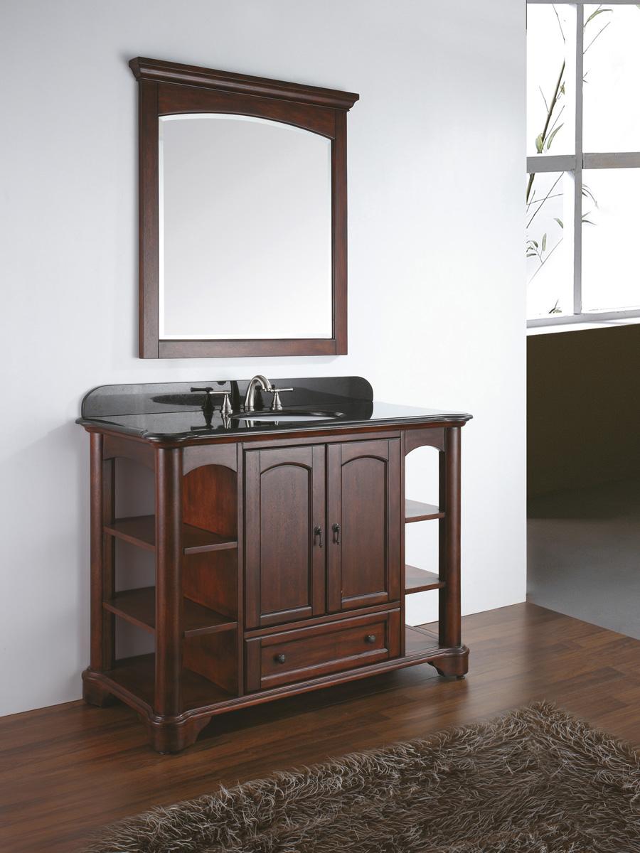 "48"" Gisela Wide Single Vanity - With optional mirror"