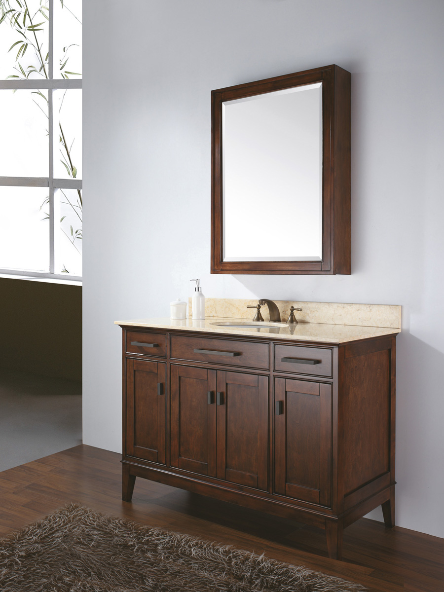 "48"" Marciana Vanity in Tobacco - With optional mirror"