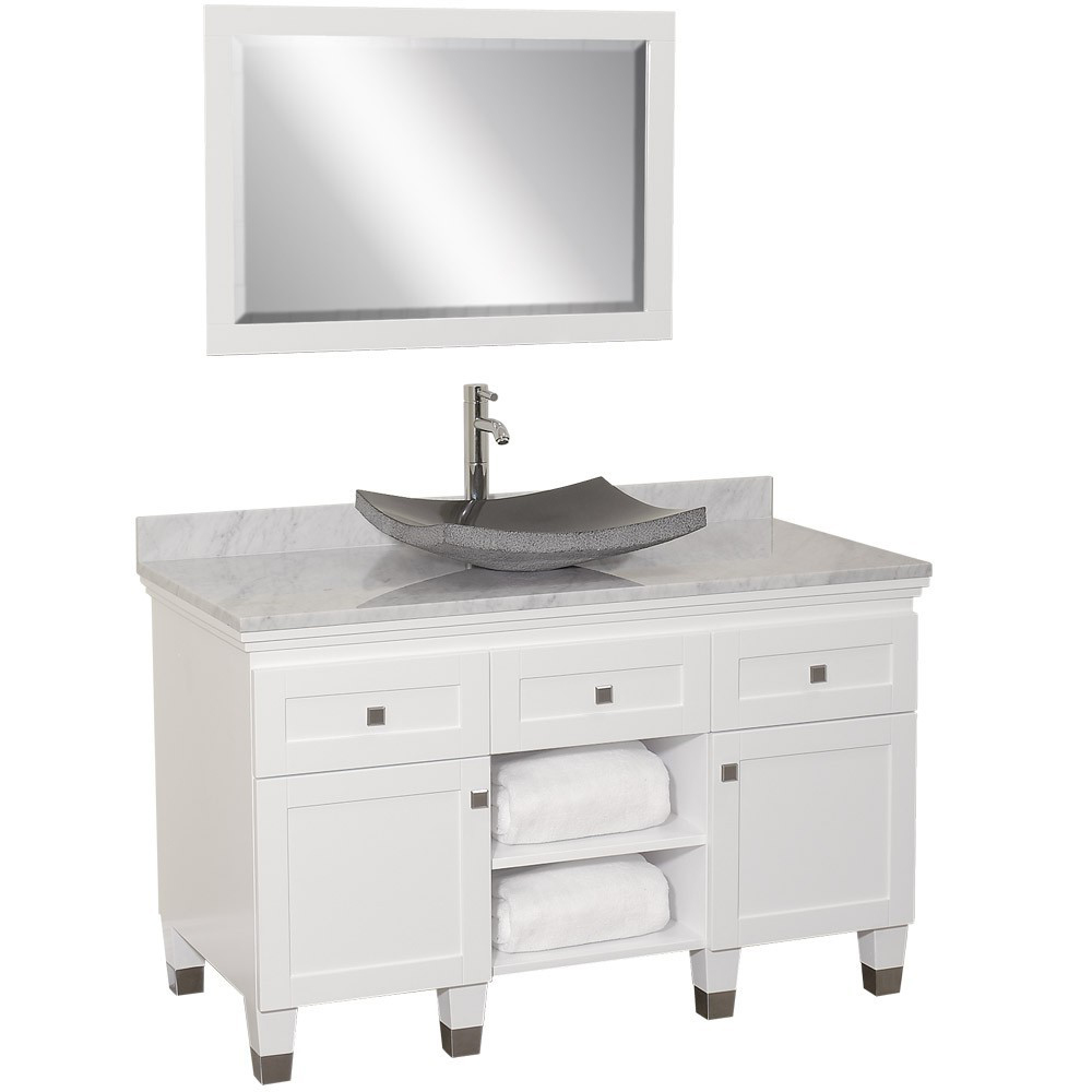 48 Premiere Single Vessel Sink Vanity White