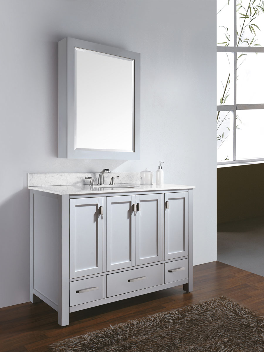 "48"" Toscana Vanity in White - With optional mirror"