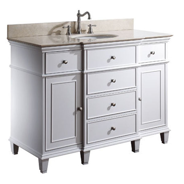 "49"" Cesarina Single Vanity in White"