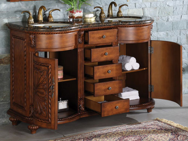 Two Single-Door Cabinets And Five Drawers
