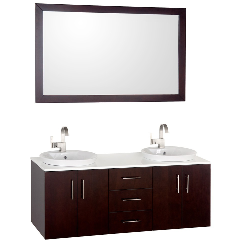 55 arrano double sink vanity. Black Bedroom Furniture Sets. Home Design Ideas