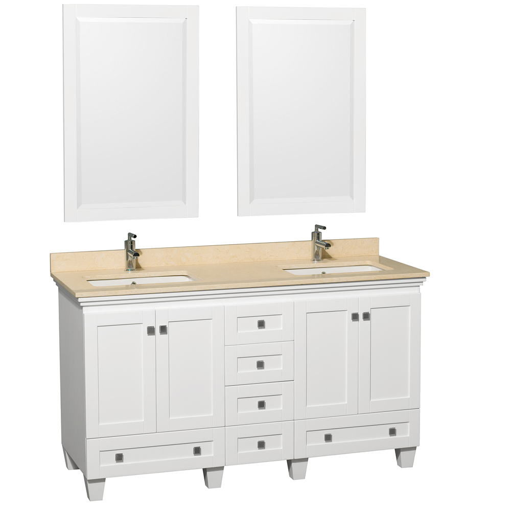 Shown with Ivory Marble Top and Mirrors