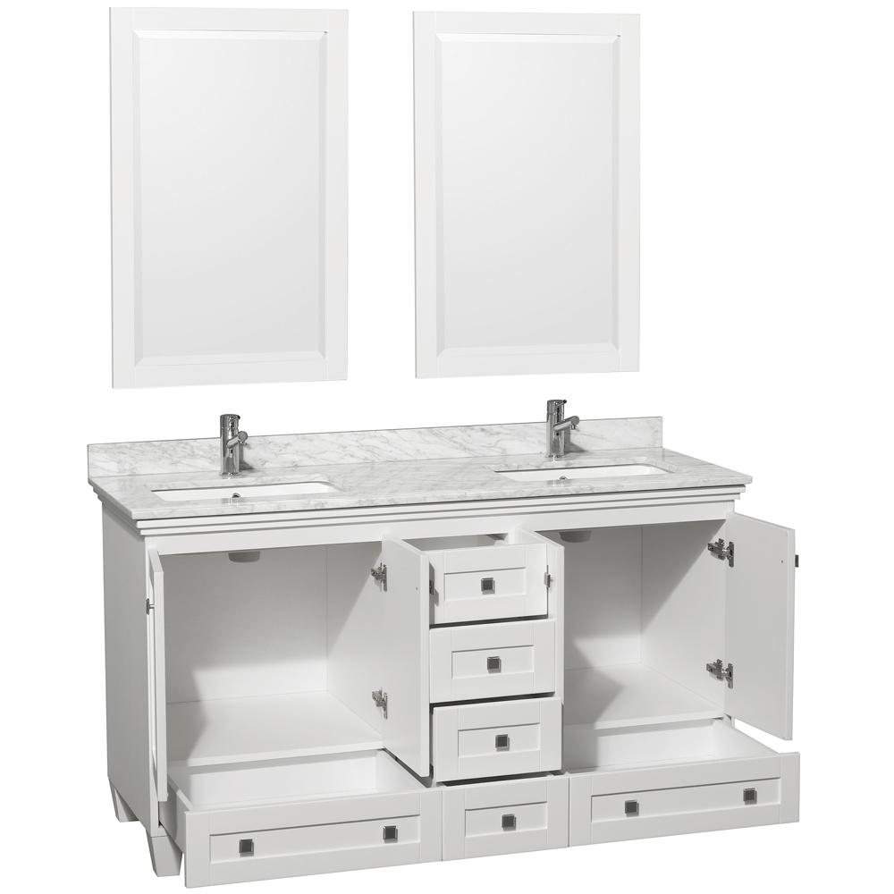 60 Acclaim Double Sink Vanity White