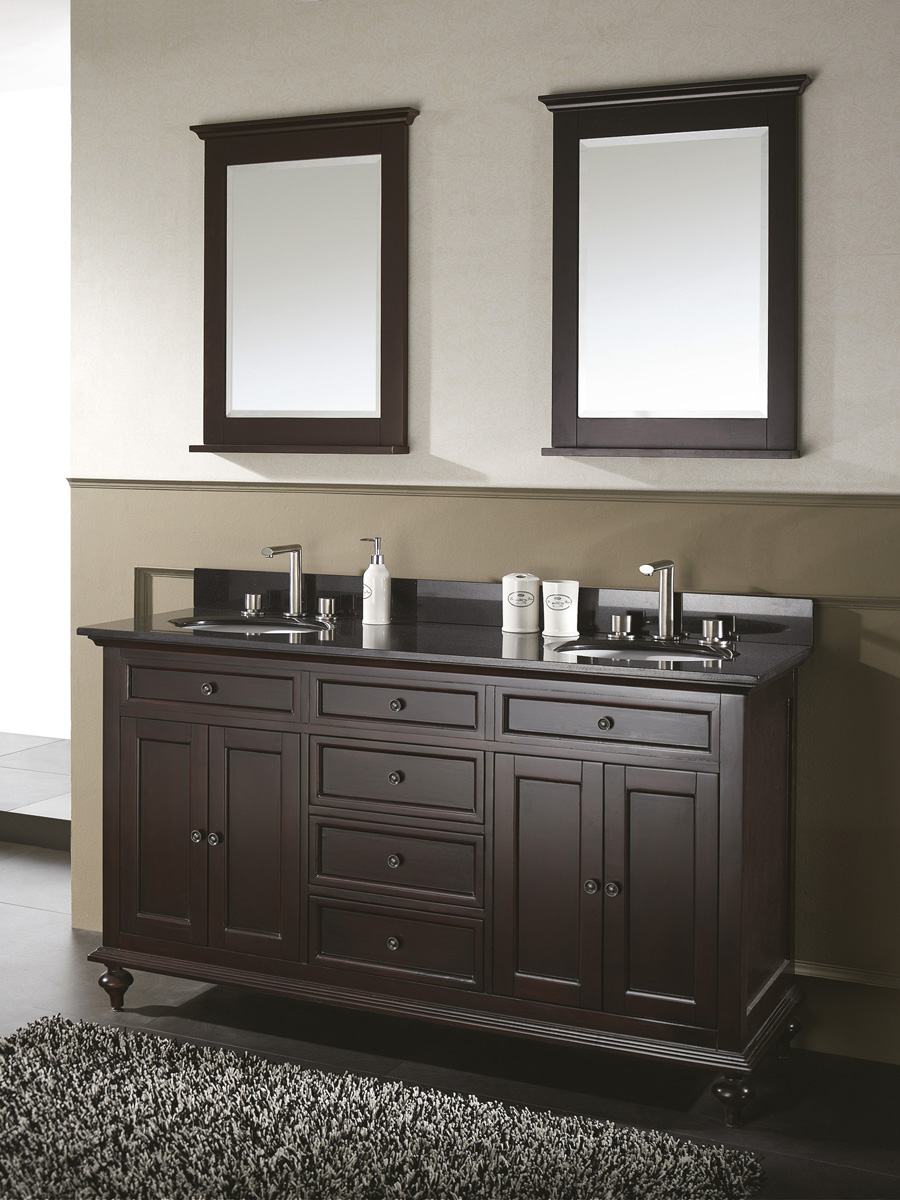 "60"" Alessano Double Vanity - With optional mirrors"