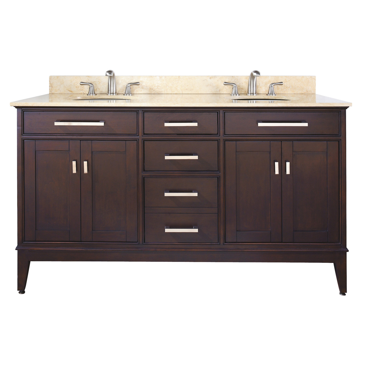 "60"" Marciana Double Vanity in Light Espresso"