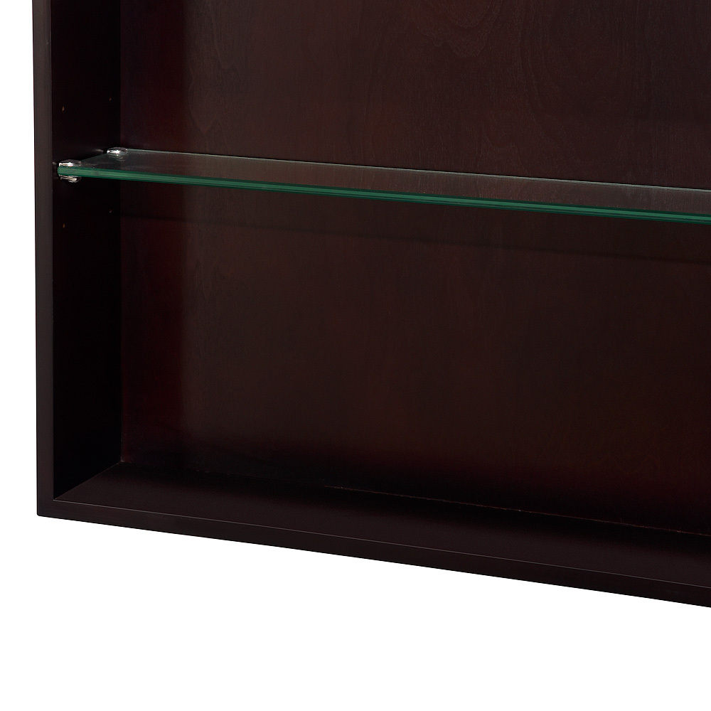 Glass Shelves of Medicine Cabinet