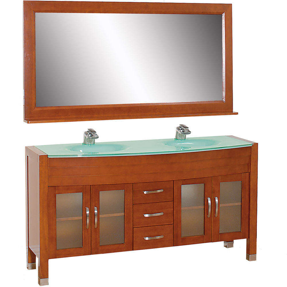 63 Daytona Double Sink Vanity Cherry