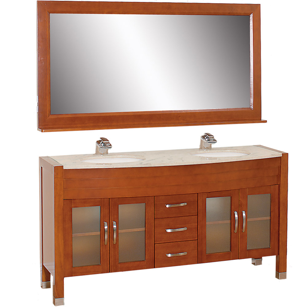63 Daytona Double Sink Vanity Cherry