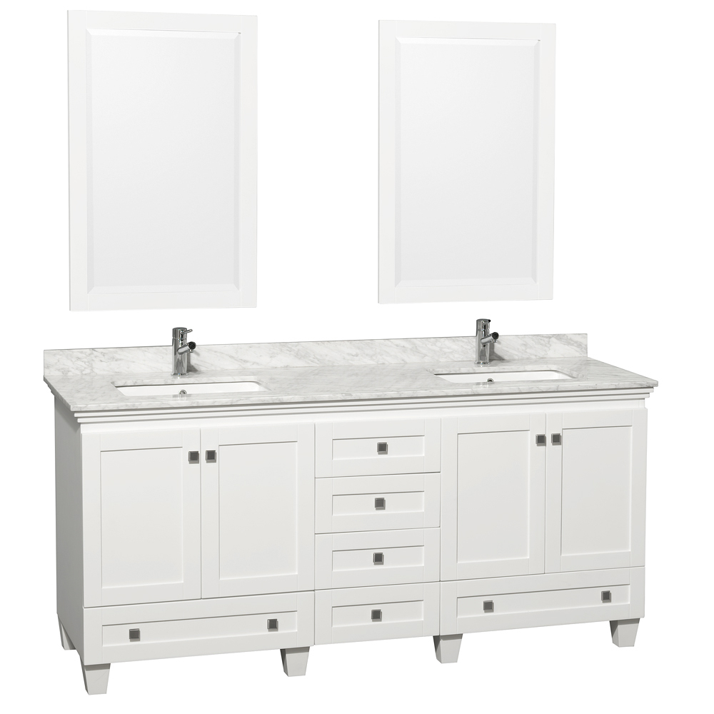 Shown with Carrera White Marble Top