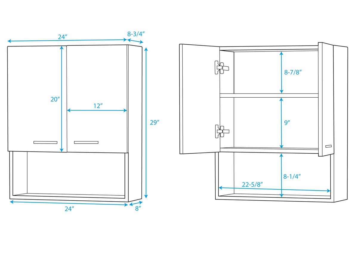 Maria Wall Cabinet - Dimensions