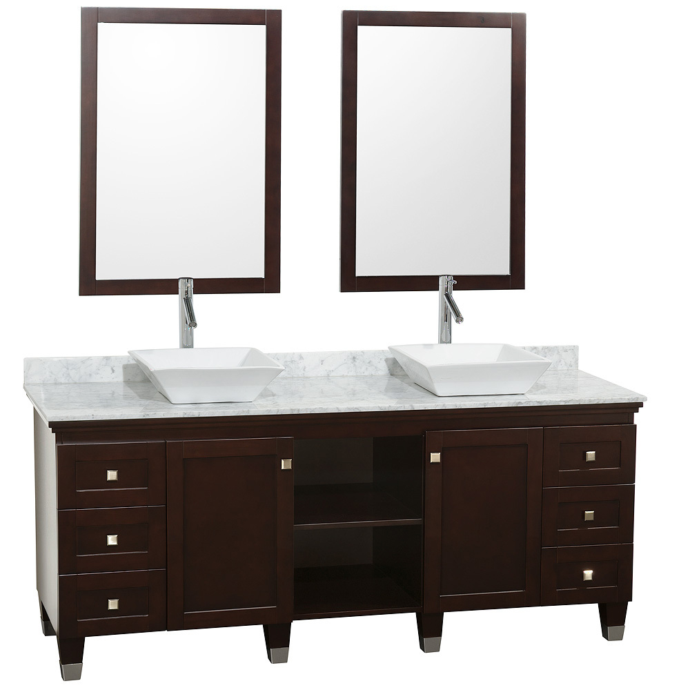 "72 Madison Double Vessel Sink Vanity: 72"" Premiere Double Sink Vanity"