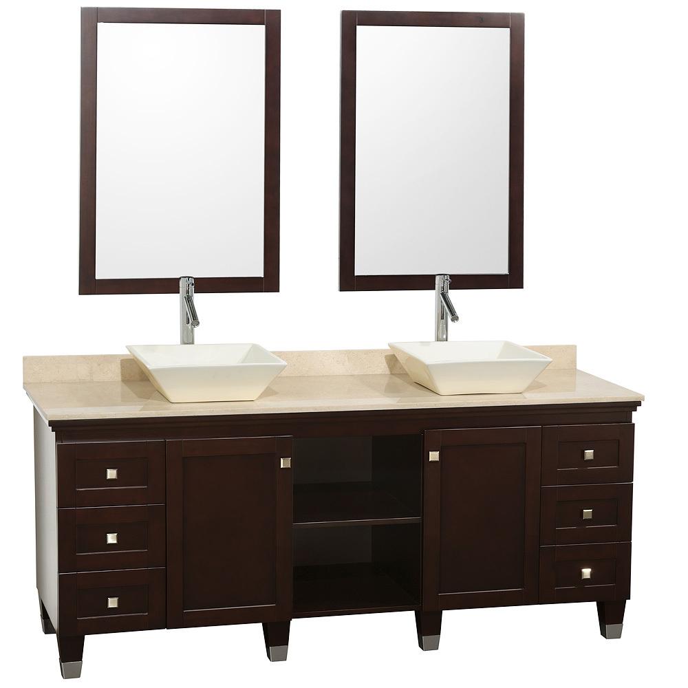 72 Premiere Double Sink Vanity Espresso